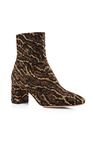 Medium rochas animal rocchetta leopard brocade ankle boots