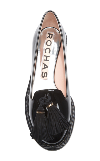 Gallese Patent Tassel Loafers by ROCHAS Now Available on Moda Operandi