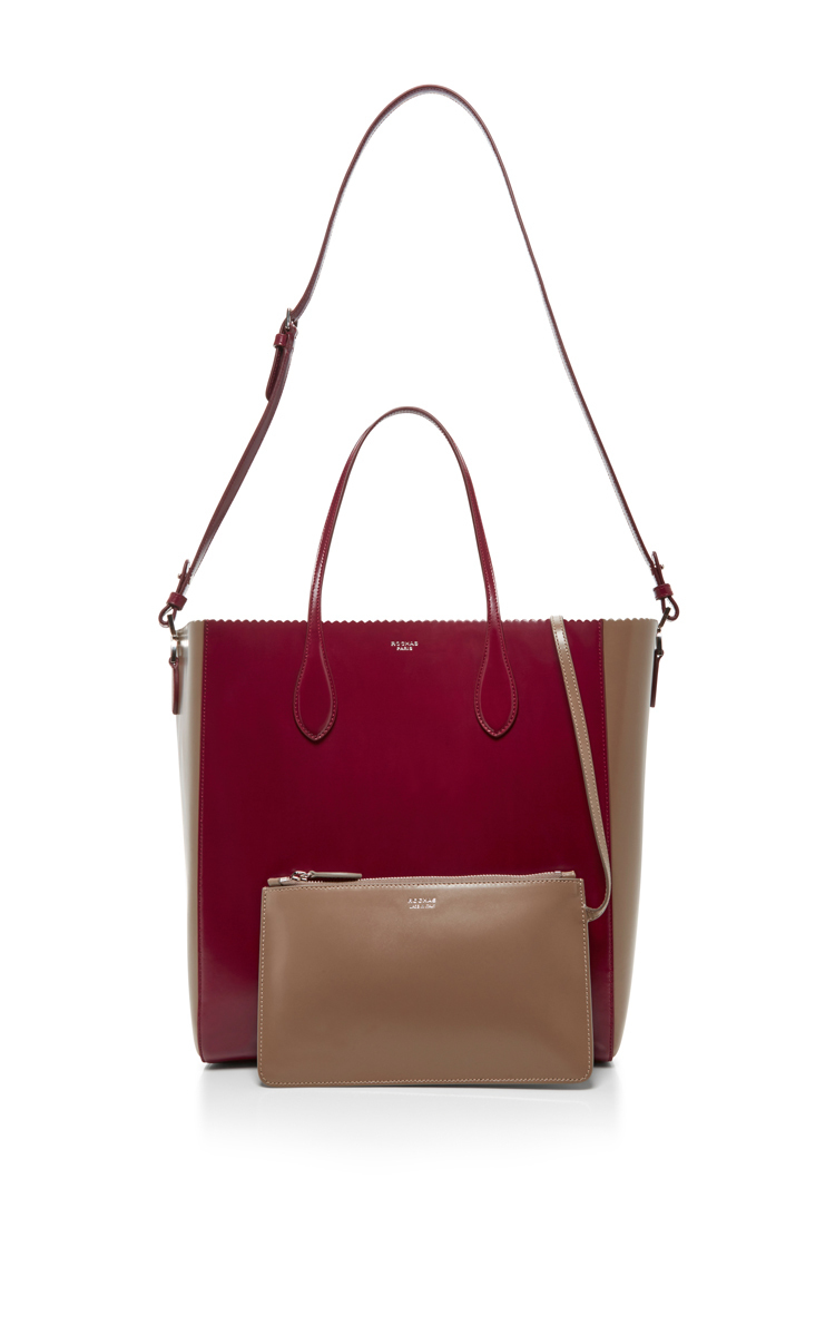 907dc3f65d6 Two Toned Scallop Edged Tote by Rochas