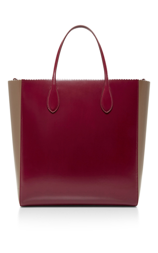 Two Toned Scallop Edged Tote by ROCHAS Now Available on Moda Operandi