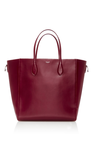 Medium rochas red scallop edged tote