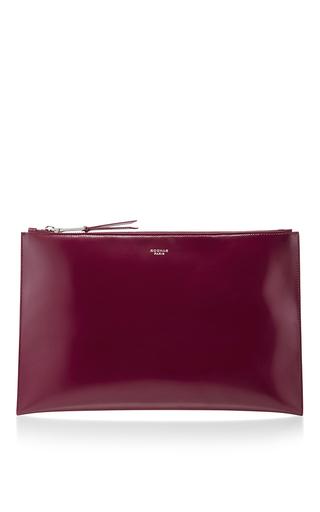 Medium rochas burgundy leti leather clutch