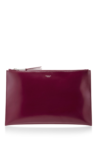 Medium rochas burgundy leti leather clutch