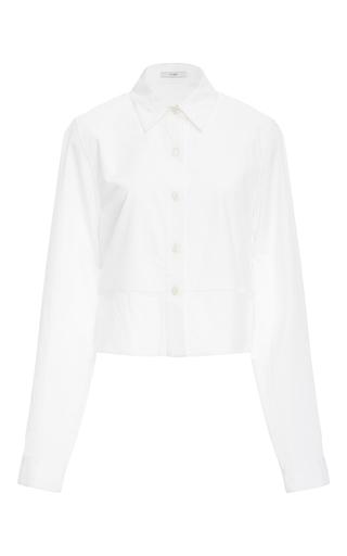 Medium tome white layered cropped shirt