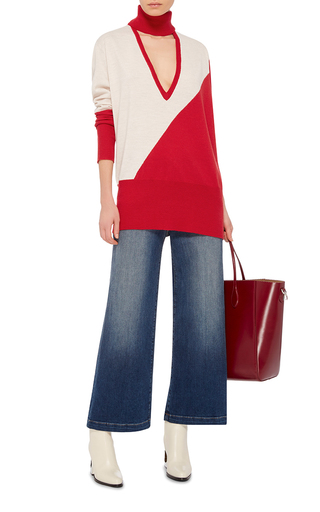 Color Blocked Cutout Turtleneck by TOME Now Available on Moda Operandi