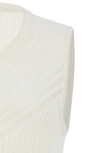 Asymmetrical Angle Ribbed Knit by JONATHAN SIMKHAI Now Available on Moda Operandi
