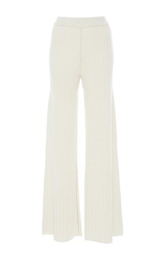 Medium jonathan simkhai ivory wide leg knit pants