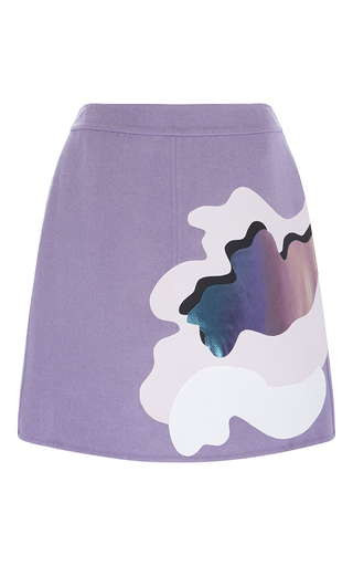 Medium mary katrantzou purple double face wool peridot skirt