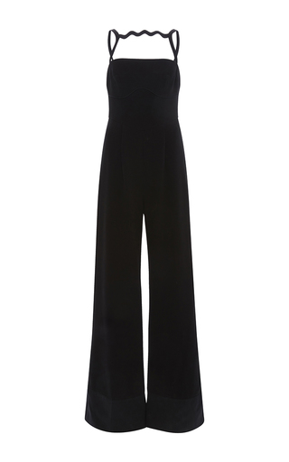 Medium mary katrantzou black moss wide legged jumpsuit