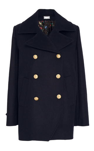Medium alexis mabille navy wool cashmere peacoat
