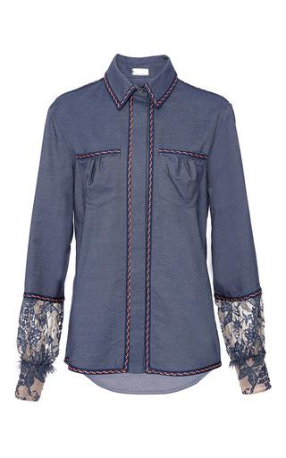 Medium alexis mabille blue chambray button up shirt