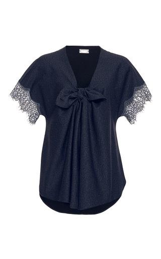 Medium alexis mabille navy moroccan crepe blouse