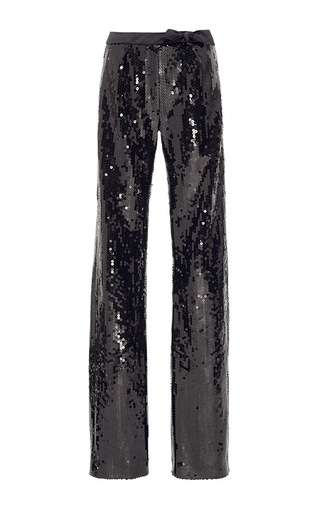 Medium alexis mabille black sequined bow trouser