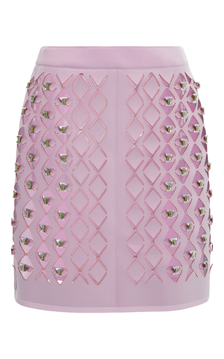 Medium mary katrantzou pink neoprene peridot skirt