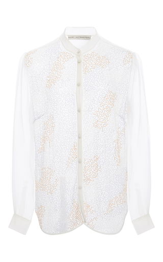 Medium mary katrantzou ivory mika blouse