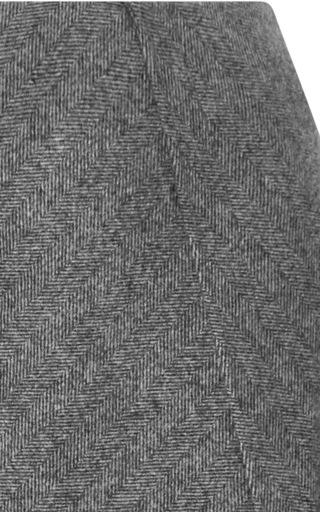 Chevron Wool Skirt by ROCHAS Now Available on Moda Operandi
