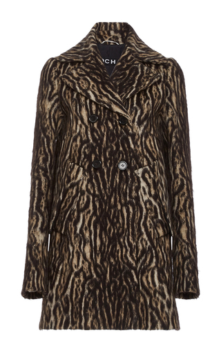 Medium rochas animal leopard print alpaca coat
