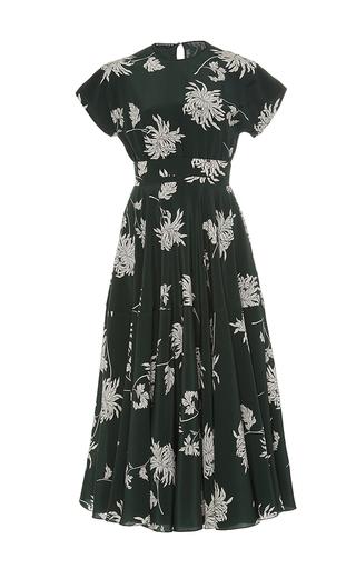 Medium rochas green floral printed dress