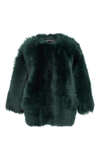 Medium rochas green fur bomber