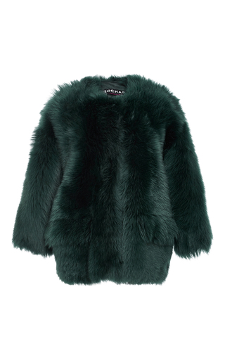 Medium rochas green fur bomber