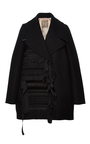 Ribbon Embellished Oversized Coat by NO. 21 Now Available on Moda Operandi