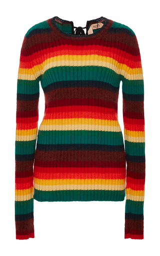 Medium no 21 stripe rainbow striped pullover
