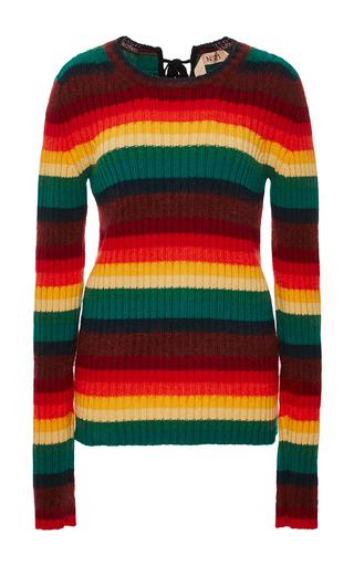 Medium no 21 stripe rainbow striped pullover