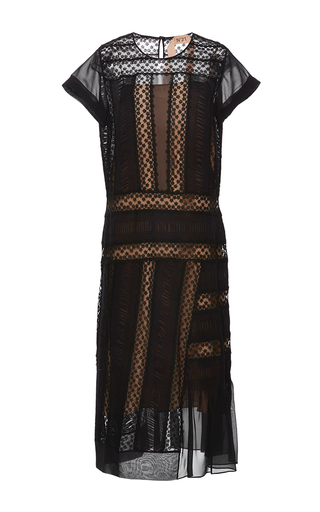 Medium no 21 black lace insert sheath dress