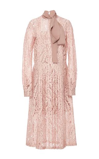 Medium no 21 pink lace tie neck dress