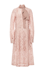 Lace Tie Neck Dress by NO. 21 Now Available on Moda Operandi