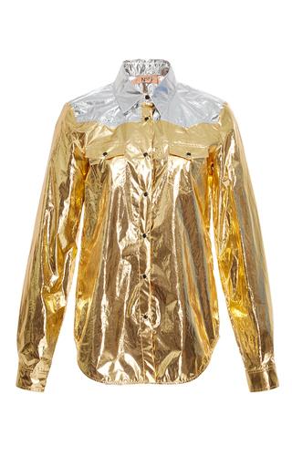 Medium no 21 gold metallic western style shirt