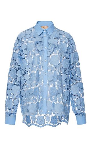 Medium no 21 blue lace button up shirt