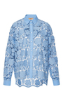 Lace Button Up Shirt by NO. 21 Now Available on Moda Operandi