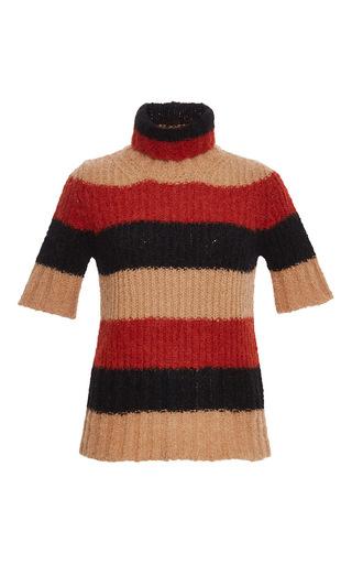 Medium no 21 multi short sleeve striped pullover