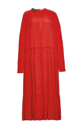 Medium no 21 red beaded embellished midi dress