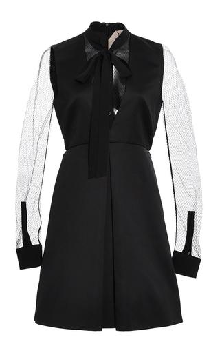 Medium no 21 black satin v neck dress