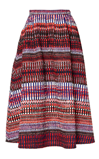 Medium saloni red naomi b garnet raffia skirt