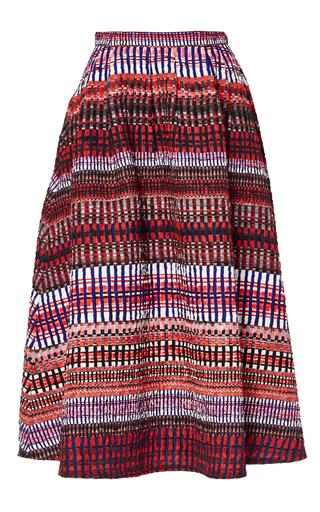 Medium saloni red naomi b garnet raffia skirt