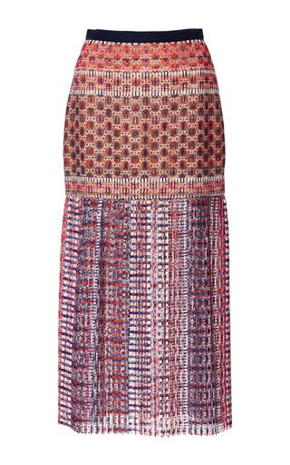 Medium saloni pink diana c fit and flare skirt