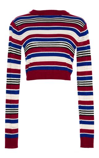Medium saloni red eden striped knit