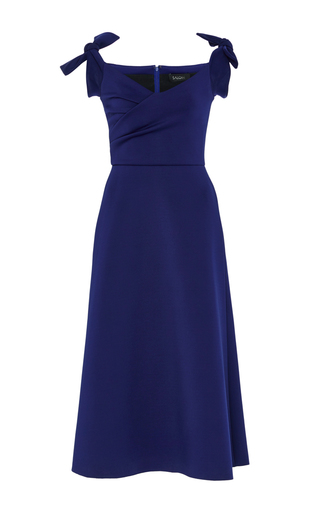 Medium saloni navy ruth off the shoulder dress