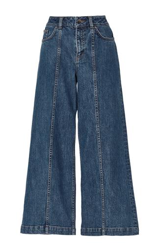 Medium saloni dark wash loulou crop denim jean