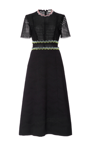 Medium mary katrantzou black bronzite midi dress