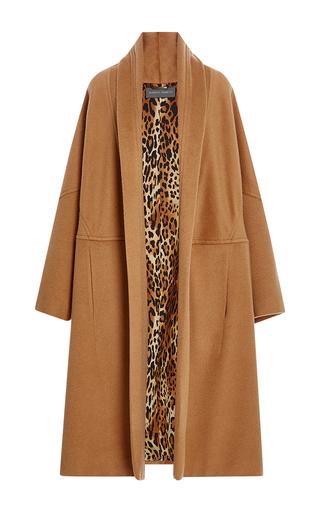 Medium alberta ferretti tan oversized camel felt coat