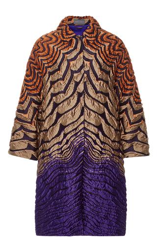 Medium alberta ferretti purple jacquard coat