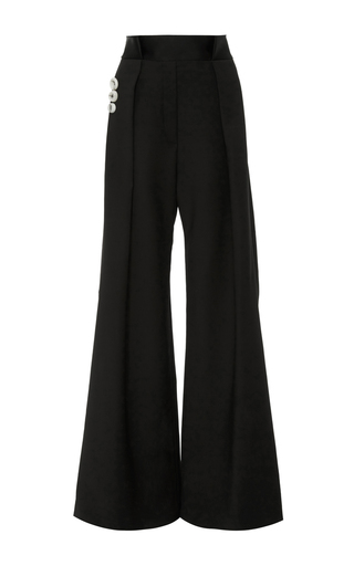 Medium ellery black star 80 wide leg trouser