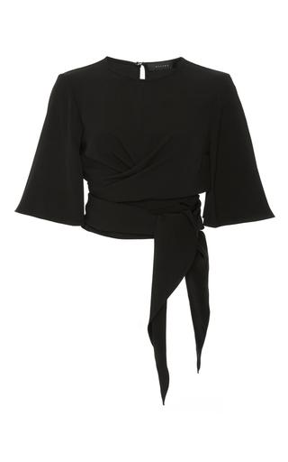 Medium ellery black dalliance wrap top