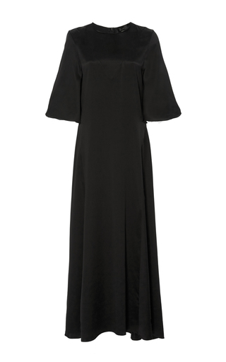 Medium ellery black louis silk satin dress