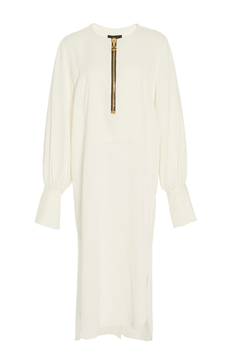 Medium ellery ivory fosse blouson zip dress