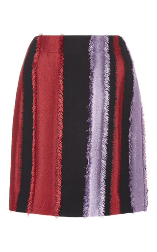 Medium versace black frayed applique mini skirt